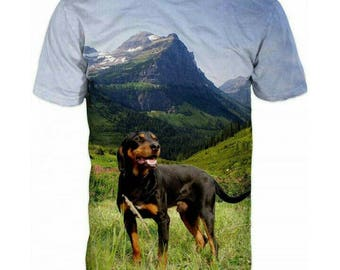 New ultramodern 3D  High Quality  Print Dog Real Nature short Sleeve t-shirt