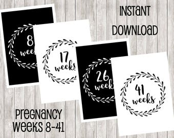 Instant Download Weekly Pregnancy Printables | Baby | Pregnant | Babies