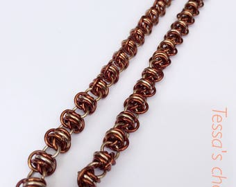 Chainmaille necklace, bronze necklace, brown necklace, earth necklace, natural necklace, earth jewelry,chainmaille jewelry,Tessa's chainmail