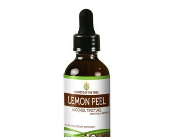 Lemon Peel  Alcohol Liquid Extract, Organic Lemon Peel (Citrus x limon) Dried Peel