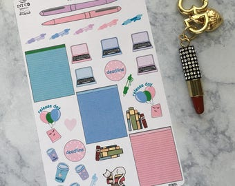 Author Planner Stickers - Bits and Pieces