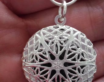 Crystal Filled Locket Necklace