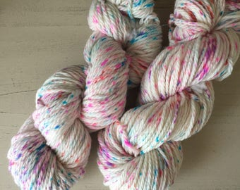 Hand Dyed Sprinkles Super Wash Merino Wool Bulky Weight