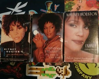 Set of 3 Whitney Houston single cassettes