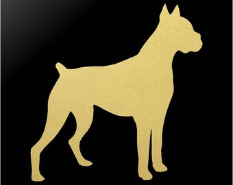 Boxer Vinyl Decal Car Window Laptop Dog Silhouette Sticker