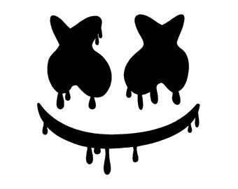Dripping Marshmello EDM DJ Vinyl Decal Car Laptop Sticker