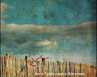 """Photo art color """"Beach"""" 15cm x 15cm"""