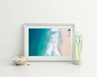 Beach Aerial Photo // Beach Print // Coastal wall print // Beach Photography // Ocean Photo // beach photo // ocean photography // Drone