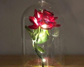 Beauty & The Beast Inspired Enchanted Rose Dome Light, MOTHERS DAY, WEDDINGS