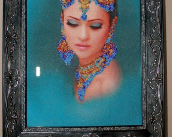 Beaded art for your wall