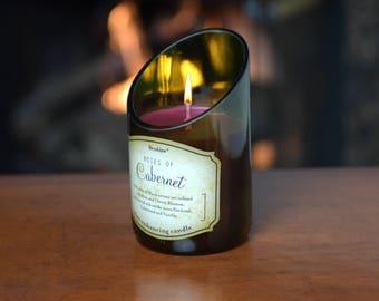 Cabernet Wine Bottle Candle