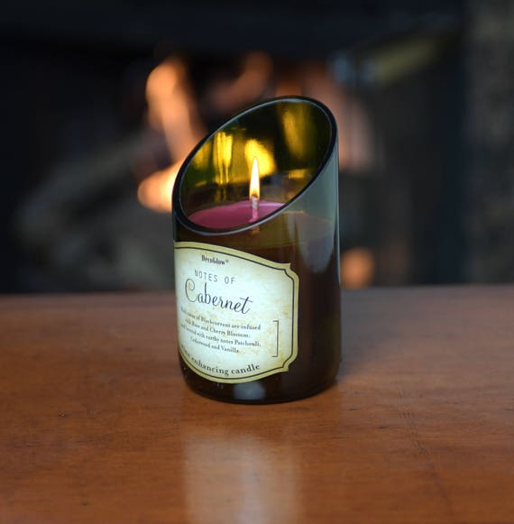 2-Piece Wine Bottle Candle with Beautiful Scent of Cabernet. Superb Value Wine Gift. Very Unique.