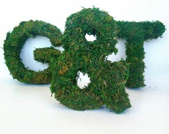 Large moss sign, moss letters, moss initial, large grass letter, large Wedding letters, Personalized moss sign, wedding grass sign