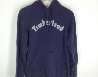 RARE!!! Timberland Outdoor Big Logo Embroidery SpellOut Hoodies Hip Hop Swag XS Size