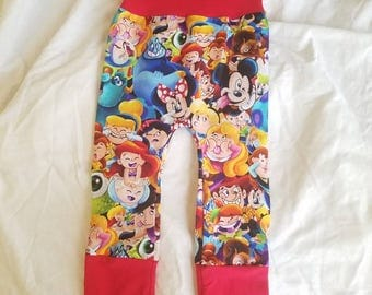 Disney Silly Faces Maxaloones Grow with me Bum Pants 6m 12m 18m 24m 2t 3t cloth diaper pants girl  or boy  cute gift