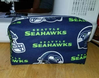 Seattle Seahawks cosmetic/storage bag