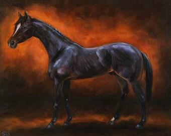 Kitasan Black (original oil painting)