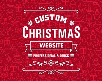 Christmas Sale Website Design, Website Design, Wordpress Website Design, Custom Website, Professional Website, Boutique, Fully Functional We