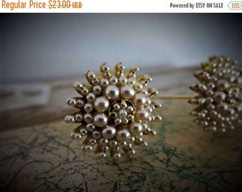 SUMMER CLEARANCE Chignon Jewelry Decoration Gold and Pearls