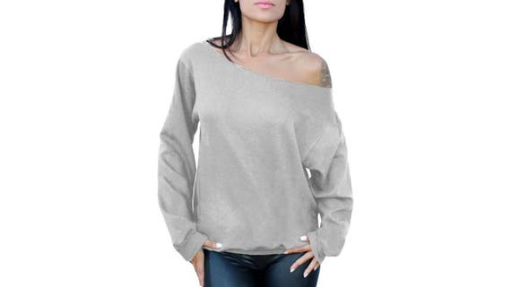 Off Shoulder Sweater Sweatshirt Slouchy Oversized Off the