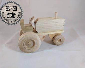 Wood Toy, Wood Farm Tractor, Farm Tractor, Tractor