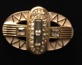 GIVENCHY Deco Style Brooch