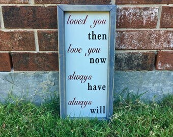Rustic Love Sign. FREE SHIPPING