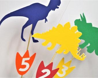 Dinosaur Party Centerpiece picks (Set of 5)