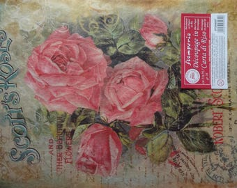 A4 Decoupage Paper, Rice Paper,  Mixed Media Paper, Card Making Paper, Scrapbooking Paper, Thin Paper, Floral Rice Paper