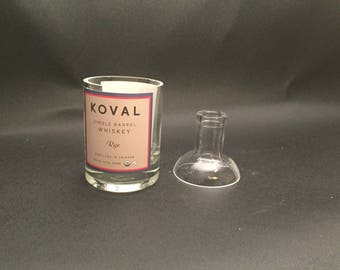 HANDCRAFTED Candle 200ML Koval Rye WHISKEY BOTTLE Soy Candle. With/Without Base. Made to Order !!!!!