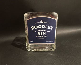 HANDCRAFTED Up-Cycled  750ML Boodles British Gin BOTTLE Soy Candle. Made To Order !!!!!