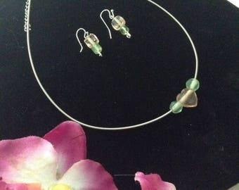 Kids Guitar String Choker and Earring Set