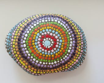 Concentric Circle, Infinity, Painted Rock Art, Acrylic Painted Rock Art, Rock Art, A-Rock-A-Day, Daily Meditation