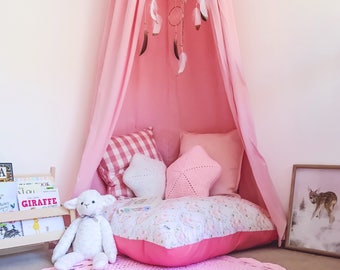Pink Canopy, Reading Nook, Play Corner, Cot Canopy, Teepee
