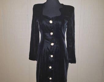 Black Velvet Victor Costa little black dress