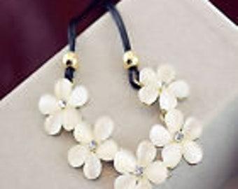 Flower Statement Choker Necklace Charm