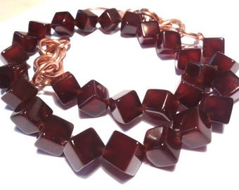 Copper and Carnelian necklace