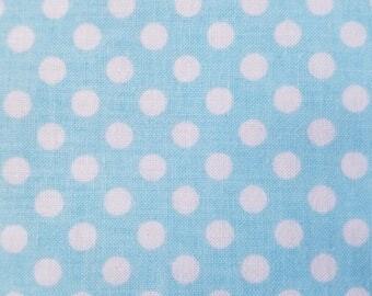 Blue Polka Dot Cotton Fabric