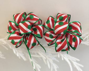 Peppermint Gift Bows