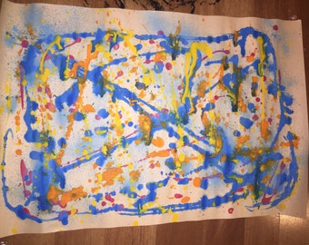 Lutz Havoc - Acrylic Splatter Painting on Drawing Paper