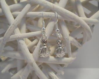 """Child's fancy """"Ladybug"""" Silver earrings"""
