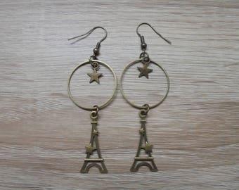 "Earrings ""Paris"" in bronze"