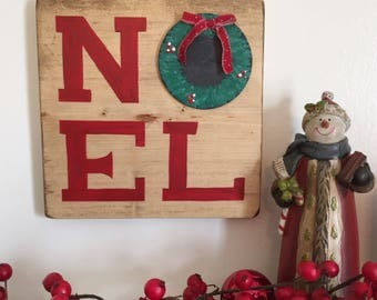 Noel Wood Christmas Sign