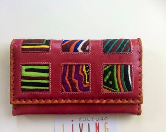 Summer Leather Mola Wallet & Clutch