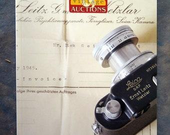 Tamarkin Vintage Auction Camera Catalogue #28 - Catalog Lecia, etc.