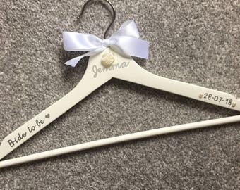 Personalised wedding coat-hanger!