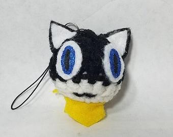 Crochet Persona 5 Morgana keychain/phone charm/dust plug