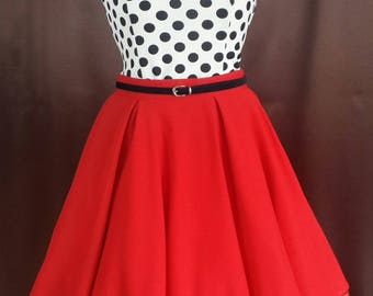 Rockabilly 50s prom 3 divider dress