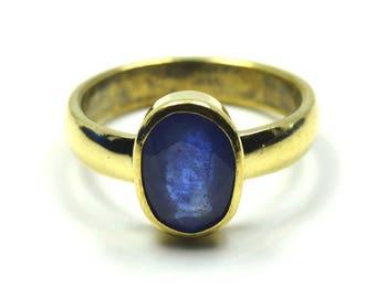 Blue Sapphire Ring,Panchdhatu Ring,Gemstone Ring,Panchdhatu Alloy Ring,Natural Stone Ring,Blue Sapphire,Gemstone,Men Ring,Women Ring
