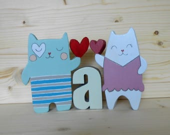 Decoration kittens to furnish the children's room – wood